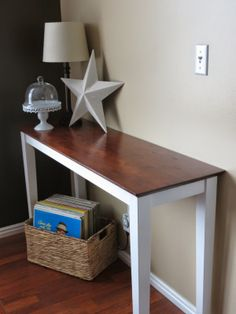 Sofa Table-With My Own Two Hands. General Finishes Gel Stain.