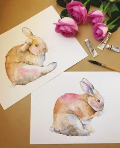 I've had to put my tulips aside for a few days while I work on some bunnies and roses for my agent. I have another rabbit to do and then onto some roses. There's never a dull moment here .