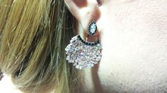 Sterling Silver Double EarringsRose Gold Double by Vaptism on Etsy