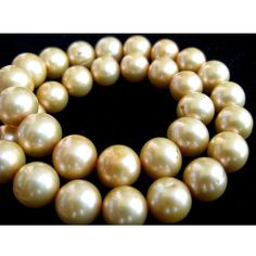 Natural Pearls Golden Pearls 10mm 15 Inch Strand by gemsforjewels, $69.90