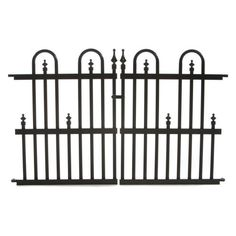 Specrail, Garden Perimeter 2 in. x 3 ft. x 2 ft. Aluminum Fence Panel, at The Home Depot - Mobile Aluminum Fence Gate, Wrought Iron Fences, Metal Fence Panels, Fence Doors, Front Yard Fence, Farm Fence, Low Fence, Rustic Fence, Fence Art