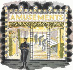 Amusement Arcade Print by Eric Ravilious