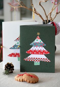 Easy christmas card craft with kids