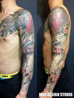 dragon tattoo Japanese traditional style
