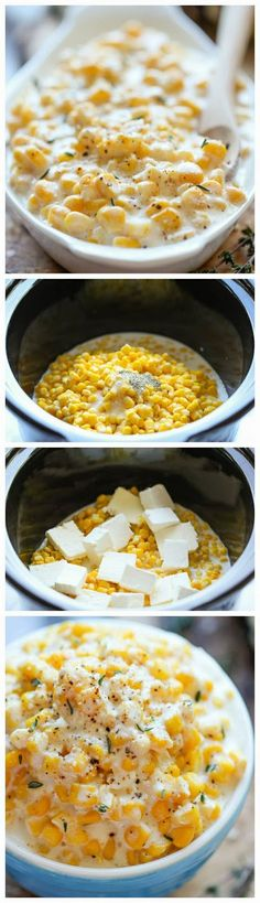 corn recipes, unbeliev easi, side dishes, cream corn, crock pots, crockpot, cooker cream, slow cooker, thanksgiving sides