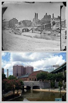 The Canal Walk after the Civil War and now. I love History. Mystery Of History, Vintage Photography, Historical Photos, Virginia, War, Architecture, Crochet, Building, Places