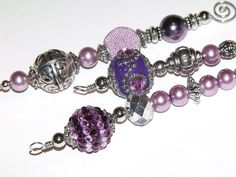 Purple and Silver Icicle Ornaments  vintage by CJKingOriginals, $14.00
