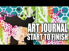 How to: Art Journal Page; good tips like working in three's for balance.