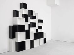 Regular shelving / for shop Variable bookcase in black and white Mymito GmbH Cubit