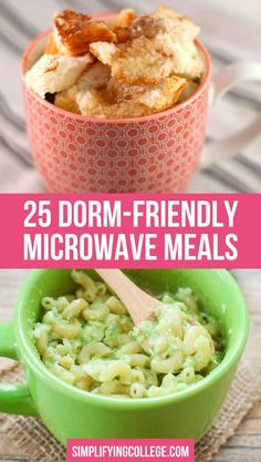 Easy and yummy microwave mug meals that you can make in your dorm room in ten minutes or less! food recipes dorm room 25 Microwave Mug Meals You Can Make in Your Dorm Room Healthy Microwave Meals, Healthy College Meals, Easy Microwave Recipes, Microwave Dinners, Microwave Breakfast, College Cooking, Best College Food, Easy College Recipes, Microwave Cooking For One