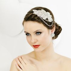 Bridal Headpiece  Wedding Hair Adornment by LavenderByJurgita, $115.00