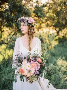 California Wedding Style: Bohemian Romance