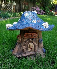 Hand crafted ceramic toad house creates a magical touch in the landscape. Large toad abode brightens up any grassy or natural spot while providing perfect habitat for beneficial crawly things in the g