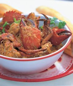 Singapore Chili Crab recipe-simmer crab in a thick, sweet, savory and spicy sauce. From Southeast Asia