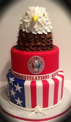 LOVE THIS! Except, instead of a boy scouts cake, for the military or 4th of July!
