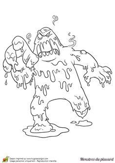 Un joyeux petit monstre un il colorier m larbok 2 pinterest - Monstre a colorier ...