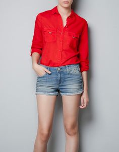 SHIRT WITH SKULL BUTTONS - Shirts - Woman - ZARA United States