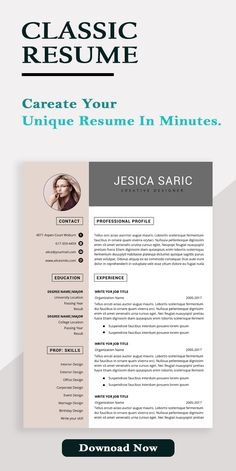 Resume template, Professional resume template instant download, resume template word, resume writing,CV, CV template, fame nine resume#WordResume #applePages #bioData #cleanresume #coverLetter #Powerpoint #stylish #top
