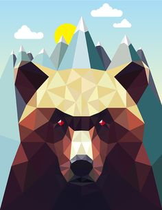Geometric Animal Series by David Iwane