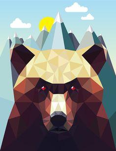 Geometric Animal Series by David Iwane