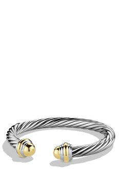 David Yurman 'Cable Classics' Bracelet with Gold Domes available at #Nordstrom