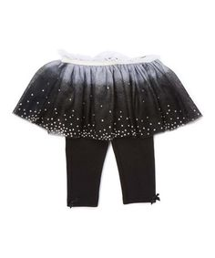 Look what I found on #zulily! Black Polka Dot Skirted Leggings - Infant #zulilyfinds