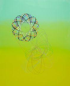 MARK TITMARSH Chromopedia 2018 acrylic, pencil and resin on aluminium 110 × 90 cm Light Touch, Artworks, Resin, Pencil, Celestial, Abstract, Gallery, Artist, Summary
