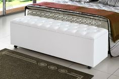 recamier - baú Interior Decorating, Interior Design, Home Furniture, Ottoman, Bedroom, Storage, Home Decor, Room Inspiration, Bed Frame Feet