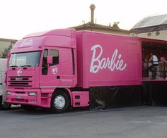 The Barbie truck!  I would scream and fall over and faint if I ever saw this truck coming my way.