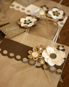 Brown Flower Bag by Bunches and Bits {Karina}, via Flickr
