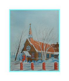 St Luke's Church, 15x18, watercolor, finished oct 24, 2012. Gift to Angeli & Mike McCabe, dec 30, 2016.