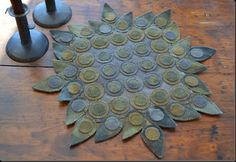 Pointed tab penny rug