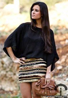 DIY Sequin skirt