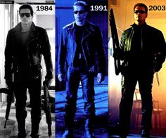 Arnold Schwarzenegger then and now.