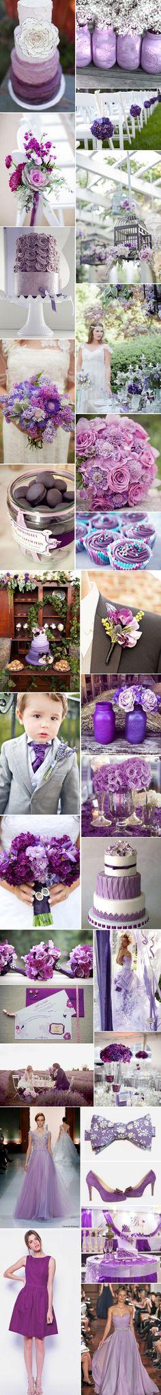 [Inspiration] Mariage violet
