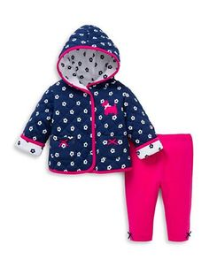 Little Me Two-Piece Jacket and Pants Set  Navy 12 Months