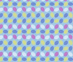 Cracking Painted Easter Eggs fabric by madex on Spoonflower - custom fabric