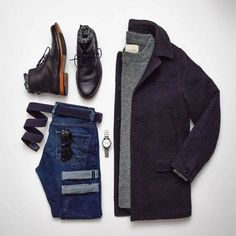 Everyday Essentials in this Stylish Grid by Styles of Man - Men's Fashion Inspiration… - Stylish Mens Outfits, Casual Outfits, Men Casual, Casual Menswear, Outfit Grid, Fashion Mode, Daily Fashion, Fashion Trends, Fashion Inspiration