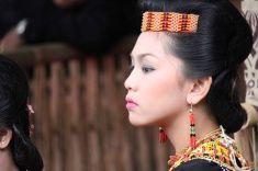Portrait of a Torajan woman stock photo