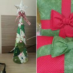 O Natal chegando...tecidos e sobras...