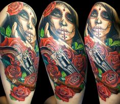 Realistic Muerte Tattoo by Tattoo Rascal | Tattoo No. 13221