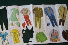 Vintage ALL 5 Family Affair Paper Dolls and Clothes