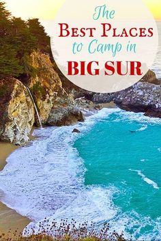 Big Sur Camping Guide: Best Places To Camp & MUST-KNOW Local Tips Camping in Big Sur is truly magical. These are the best places to camp in Big Sur and MUST-KNOW tips from locals on how to plan your trip! Best Places To Camp, Camping Places, Camping Spots, Camping Guide, Camping World, Camping Essentials, Big Sur Camping, Beach Camping, Camping With Kids