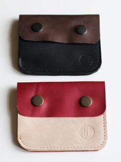 CZERWONO-BEŻOWY PORTFEL - PMR-leathercraft - Portfeliki