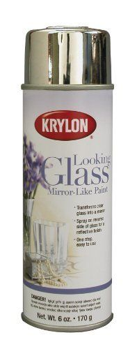 Krylon K09033000 Looking Glass Mirror-Like Aerosol Spray Paint, 6-Ounce by Krylon, http://www.amazon.com/dp/B003971BAY/ref=cm_sw_r_pi_dp_408rrb1VN3G5Q    Thinking of finding a picture frame, painting it and spraying the glass with this to make a mirror. One person commented that the back of the glass must be sprayed and not the front.