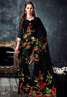 Floral saree great for summer