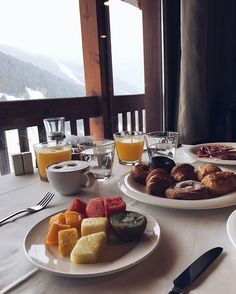 Breakfast ⛷#andorra #soldeu #ski #hotel #hotels #travel #grandvalira #vsco #vscocam