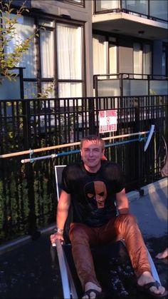 John Barrowman's Ice Bucket Challenge. He nominated Misha and Tenant!