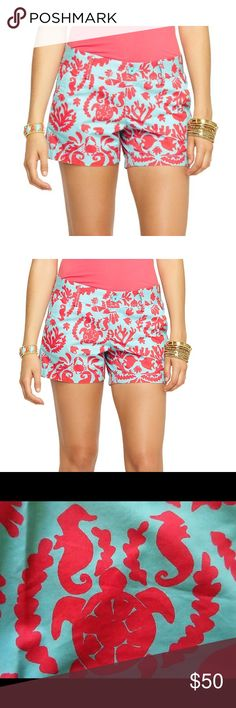 "Last Chance Lilly Pulitzer Shorts Lilly Pulitzer Callahan classic shorts. 5"" Inseam, Zip Fly Short With Center Front Button Closure, Slant Front Pockets And Back Welt Pockets. Lilly Pulitzer Shorts"