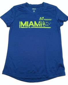 ING-Fame-Runs-Miami-Marathon-2014-Blue-Lime-Green-Ladies-Womens-Race-Shirt-XS